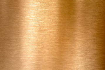Wall Mural - Copper or bronze brushed metal background or texture