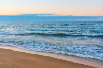 Blurred motion of  waves on seashore