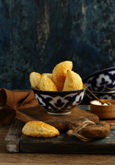 snack samosa fried pies with cheese