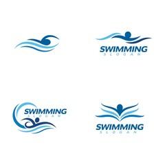 swimming Vector illustration Icon