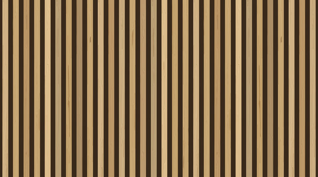 Wooden planks on dark background. Vector vertical wooden plank wall. For interior design