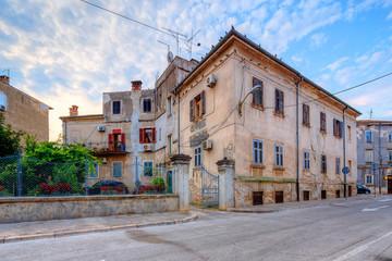 Wall Mural - street scene in Pula, Croatia.