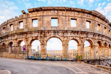 Wall Mural - Coliseum in Pula, Croatia.