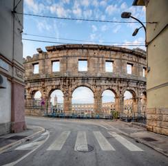 Fototapete - Coliseum in Pula, Croatia.