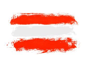 Unordentliche handgemalte Flagge: Österreich Fototapete