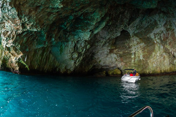 Grotto in the Kotor Bay of the Adriatic Sea in Montenegro
