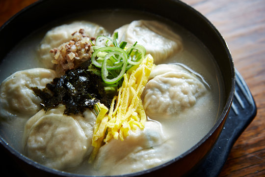 Mandu guk, Korean dumpling soup