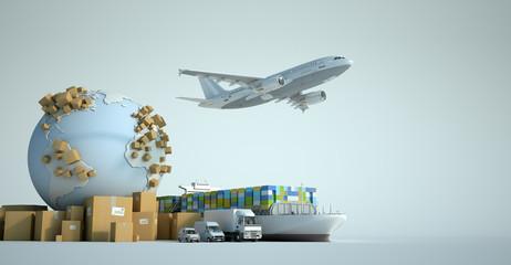 Global transportation industry Fototapete
