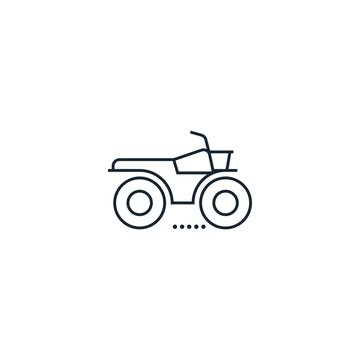 ATV creative icon. From Transport icons collection. Isolated ATV sign on white background
