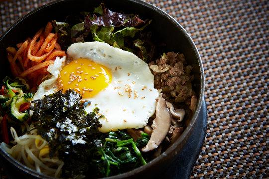 Bibimbap, Korean mixed rice with vegetable