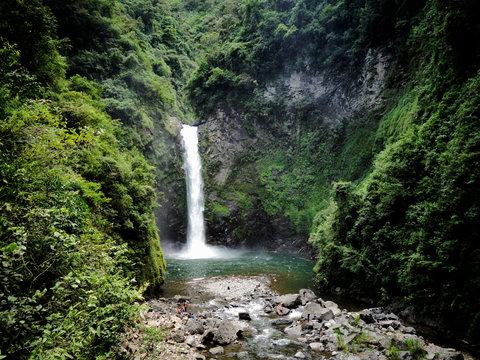 Waterfall in the rice terraces of Banaur, ifugao Philliines