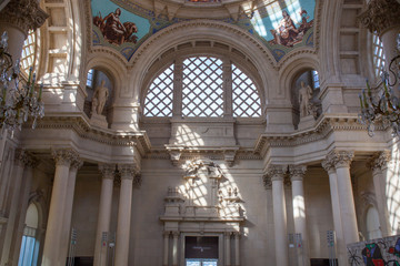 Principal dome of Palau Nacional, Barcelona, Spain