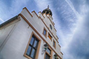 Historische Rathausfassade in Lingen