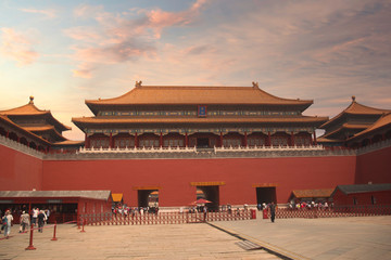 exterior of the Forbidden City in Beijing. China