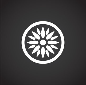 Fruit related icon on background for graphic and web design. Creative illustration concept symbol for web or mobile app.