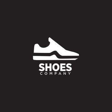 Man shoes logo design vector template