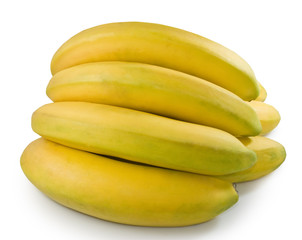 isolated image of banana closeup