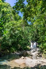 Schoelcher, Martinique, FWI - River Duclos and cascade Didier Trail