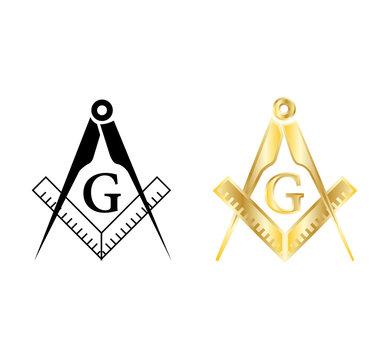masonic symbol on white