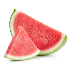 Sliced of watermelon isolated on white background. Watermelon isolated on white