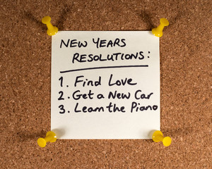 Wall Mural - New Years Resolutions