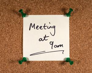 Wall Mural - Meeting Reminder