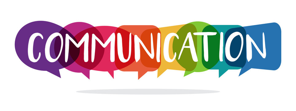 communication concept with speech bubbles, vector illustration