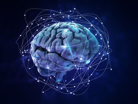 Artificial neural network - 3D illustration