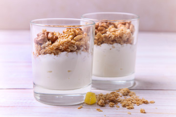 parfait dessert with nuts
