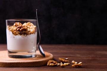 dessert parfait with nuts