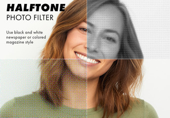 Halftone Photo Filter Effect