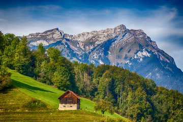 Foto op Canvas Alpen Swiss Alps - Mt. Stanserhorn 01