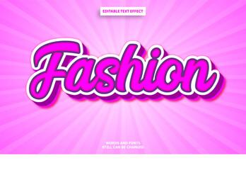 Fototapeta Fashion graffiti editable text effect obraz