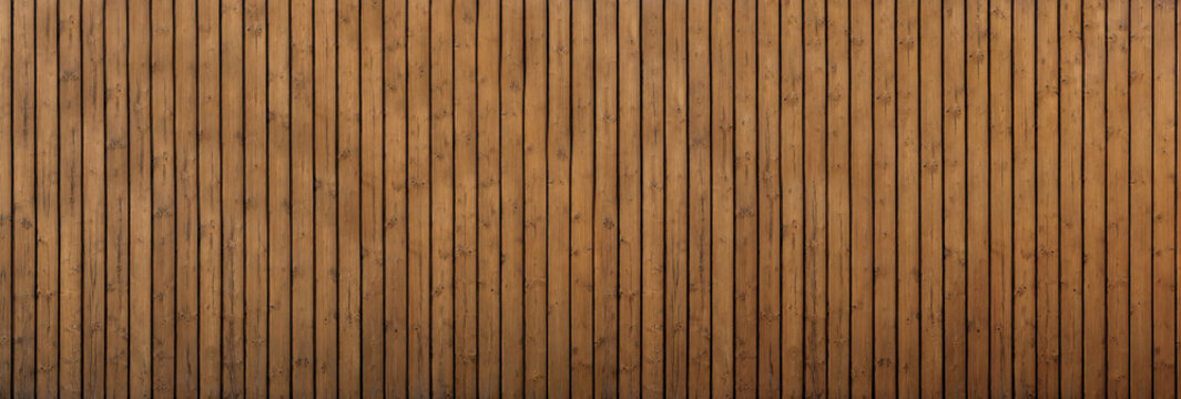 Brown vertical wood texture background coming from natural tree. panorama