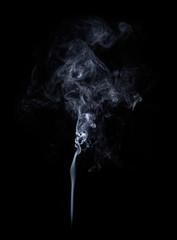 Garden Poster Smoke Photo of real white smoke on black background