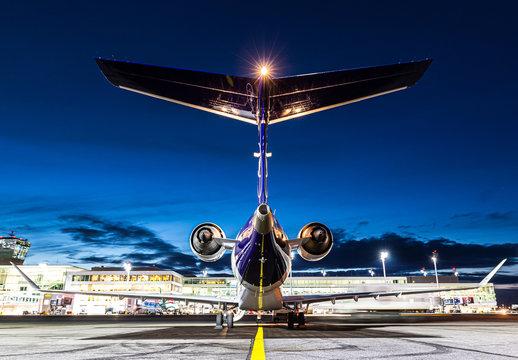 Lufthansa City Line Bombardier CRJ-900 airplane at Munich airport