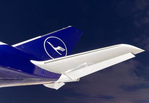 Lufthansa Airbus A350 airplane at Munich airport