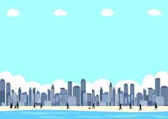 ビーチ 都市風景