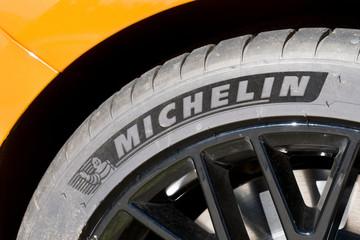 Michelin Tire Mounted on Rim