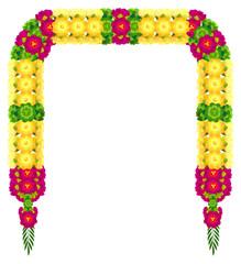 Mala indian traditional Ugadi garland flower petal beads wedding decoration