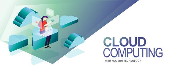 cloud computing in modern technology Wall mural