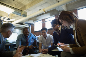 Entrepreneurs brainstorming in office