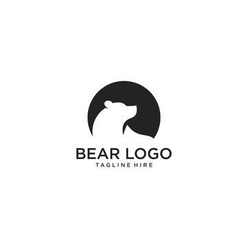 Bear logo - icon vector illustration on white background