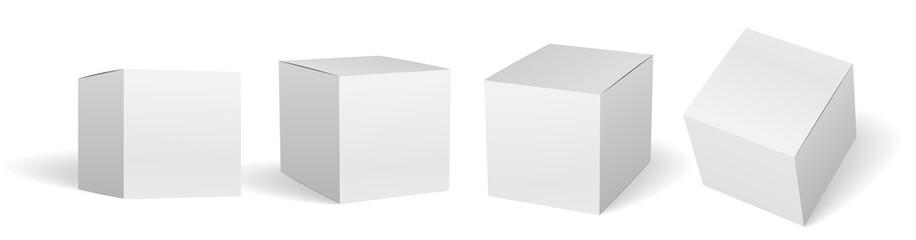 Packaging box mockup vector set 箱のモックアップ