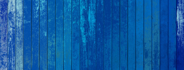 In de dag Hout blue wooden background