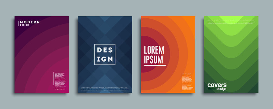 Abstract vector covers design template. Geometric gradient background. Background for decoration presentation, brochure, catalog, poster, book, magazine