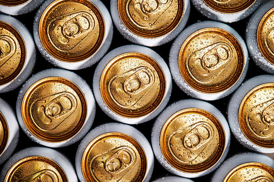 Drink cans background, beer can