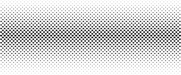 Halftone background from small black hearts.