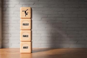 Balance zwischen Arbeit, Familie und Freizeit finden