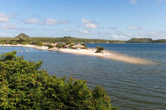 """Alter do Chão"" Beach, a freshwater beach along the Tapajos river, located in Santarem/Brazil."